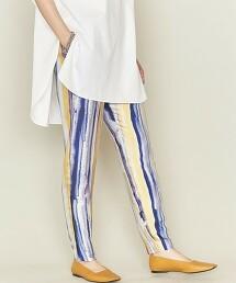 <ASTRAET>色彩梯度印花 修身 輕便褲 日本製