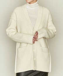<ASTRAET>5G 羅紋 V領 對襟外套