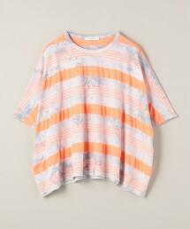 <ASTRAET>紮染 橫條紋 落肩 T恤 日本製
