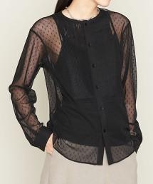 <ASTRAET>薄紗 胸飾 罩衫