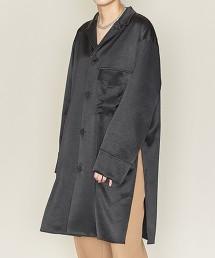<ASTRAET>開領 開衩長版襯衫 日本製