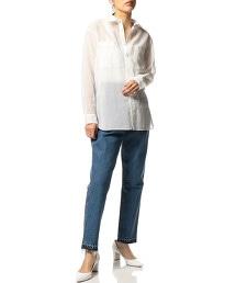 ASTRAET 透膚棉 雙口袋襯衫