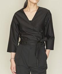 <ASTRAET>棉 前交叉 V領 罩衫 日本製