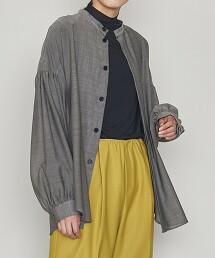 <ASTRAET>胸飾 立領 泡泡袖 罩衫 日本製