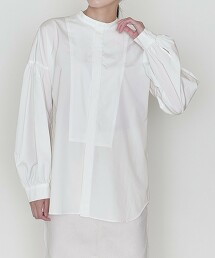 <ASTRAET>密織 立領 泡泡袖 罩衫 日本製