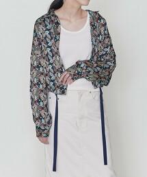 <ASTRAET>更紗印花 下擺抽繩 襯衫外套 日本製