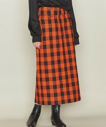 <ASTRAET>W 格紋 長窄裙 日本製