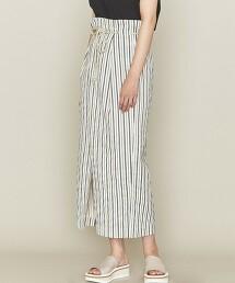 <ASTRAET>直條紋 一片式 長裙 日本製