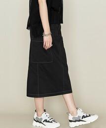 <ASTRAET>側口袋 窄裙 日本製