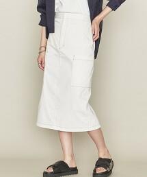 <ASTRAET>側口袋 窄裙 WHITE 日本製