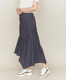 ASTRAET 直條紋不規則下擺裙