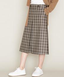 ASTRAET 格紋方褶裙