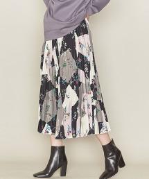 <ASTRAET>方塊印花格 長褶裙 日本製