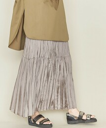 <ASTRAET>隨機抽褶 拼接 迷嬉裙 日本製