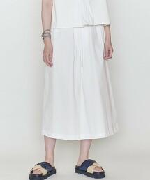 <ASTRAET>棉 細褶 梯形裙 日本製