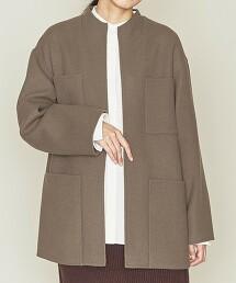 <ASTRAET>W/N 雙層織 4口袋 無領大衣