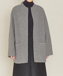 ASTRAET 雙面縫製 無領大衣