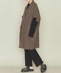<ASTRAET>W/N 3釦 短袖大衣 日本製