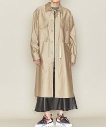 <ASTRAET>純棉 2口袋 腰間抽繩 長版襯衫 日本製