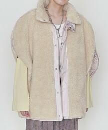 <ASTRAET>仿羊絨 立領  無袖夾克 † 日本製