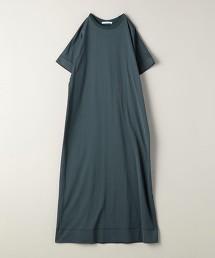 <ASTRAET>圓領短袖長版連身裙
