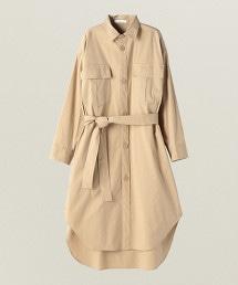 ASTRAET 綾織 2口袋 襯衫式洋裝