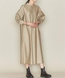<ASTRAET>純棉 立領 泡泡袖 洋裝 日本製
