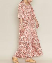 <ASTRAET>花朵印花 方領洋裝