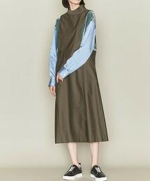 <ASTRAET>拼接 高領 洋裝 日本製