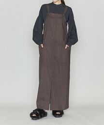 <ASTRAET>纖維結粒 吊帶洋裝 日本製