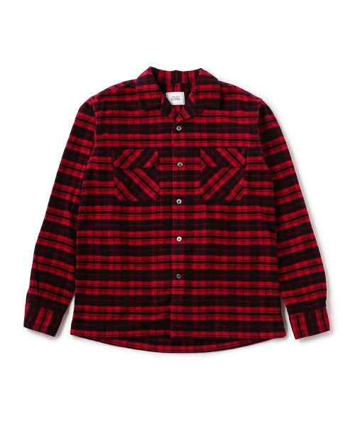 UNITED ARROWS & SONS COL NEL CHECK OPEN SHIRT OUTLET商品