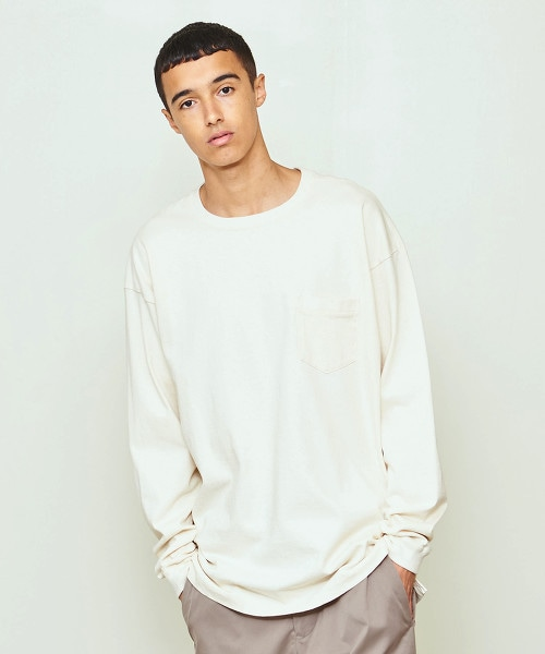 UNITED ARROWS & SONS BASIS POCKET TEE L/SL OUTLET商品