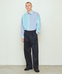UNITED ARROWS & SONS WIDE PANTS NVY