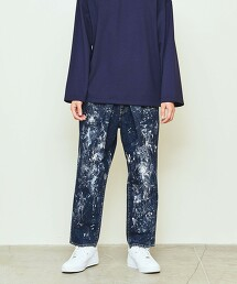 UNITED ARROWS & SONS PAINTED DENIM PANTS 牛仔褲 日本製