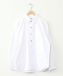 彩色鈕釦 牛津襯衫 長袖襯衫