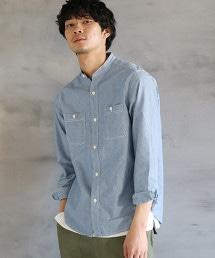 青年布圓領襯衫