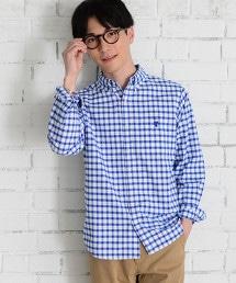 乾爽織物格紋牛津釦領襯衫