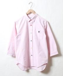 彩色釦牛津7分袖襯衫
