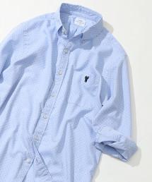 圓點牛津布7分袖襯衫