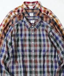 冬季亞麻 格紋襯衫