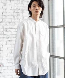 工裝立領長版襯衫