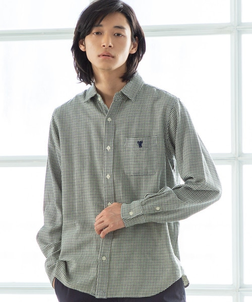 千鳥格花紋 標準領 襯衫