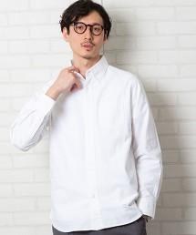 牛津布釦領襯衫長袖襯衫
