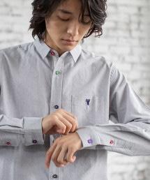 牛津布 彩色鈕釦 標準領襯衫