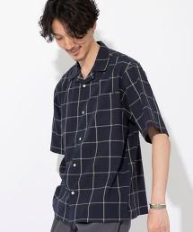印度棉 格紋 開領襯衫