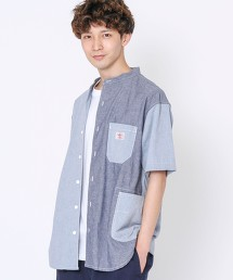SMITH'S特別訂製立領短袖襯衫#