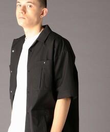 TC彈性高密度織 短袖開領襯衫(可成套)(UTILITY LINE)#