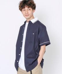 綾織 線條 羅紋襯衫