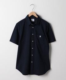 圓點凹凸織短袖襯衫
