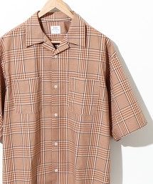 格紋 開領 寬版剪裁襯衫